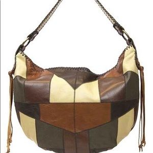 Patricia Nash Patchwork brown hobo-NEW-sold out